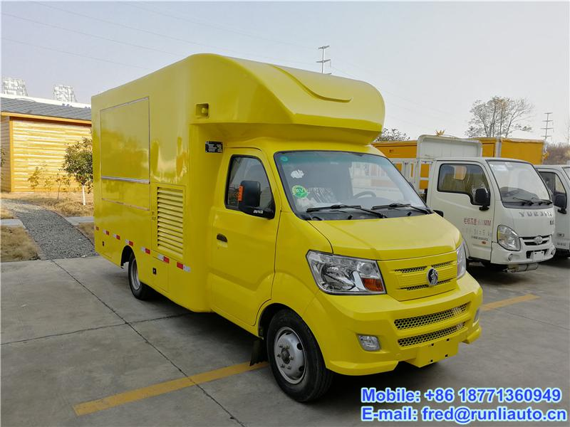 CDW 4X2 mobile food truck, mobile food cart for sale